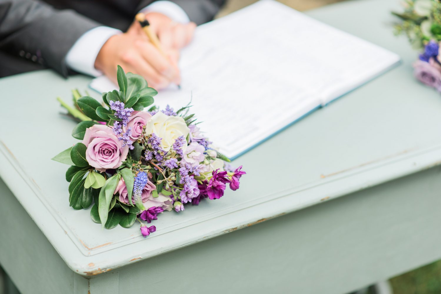 Signing of the wedding contract