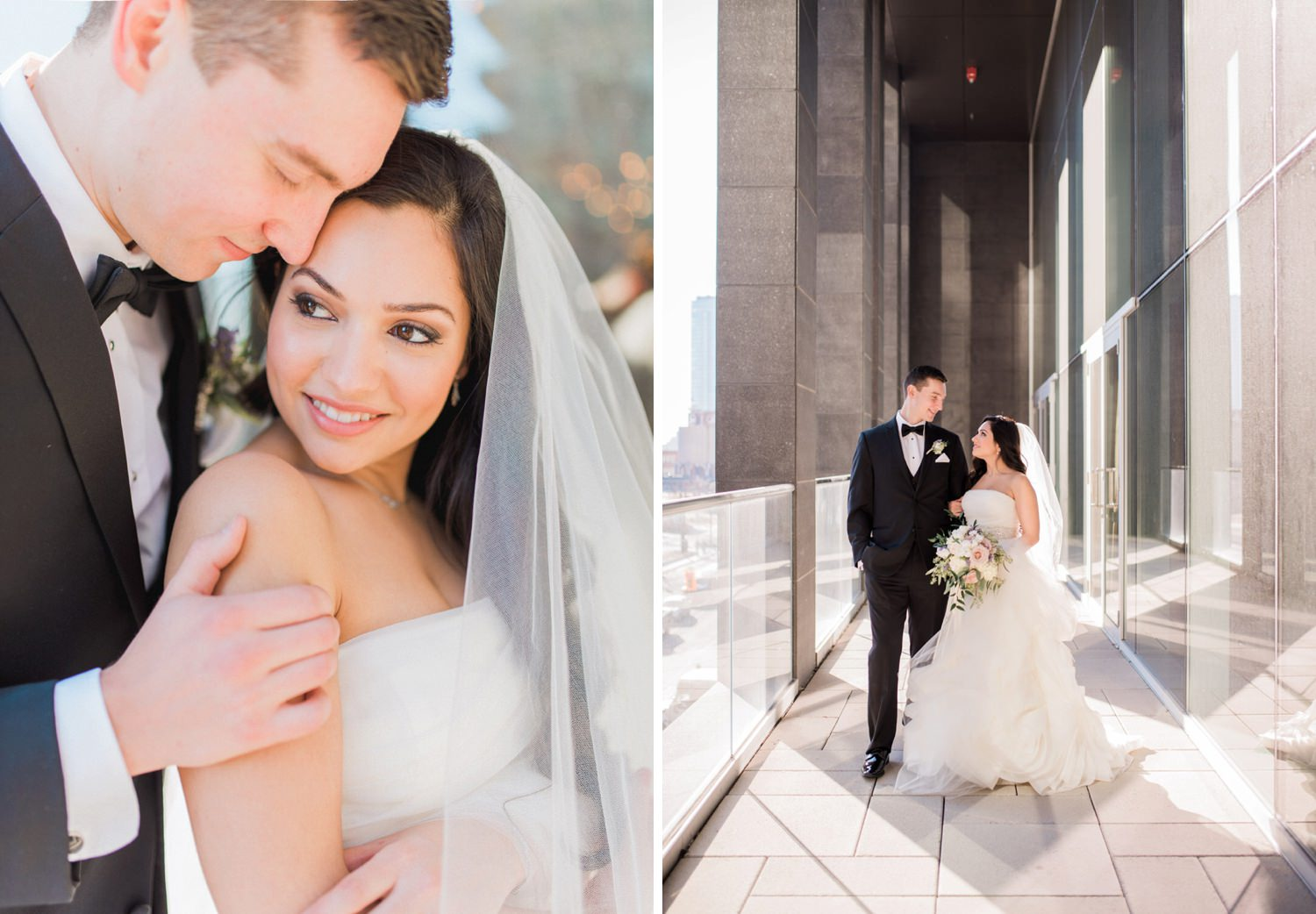 Bride and groom's stunning portraits during elopement at Toronto Delta Holte