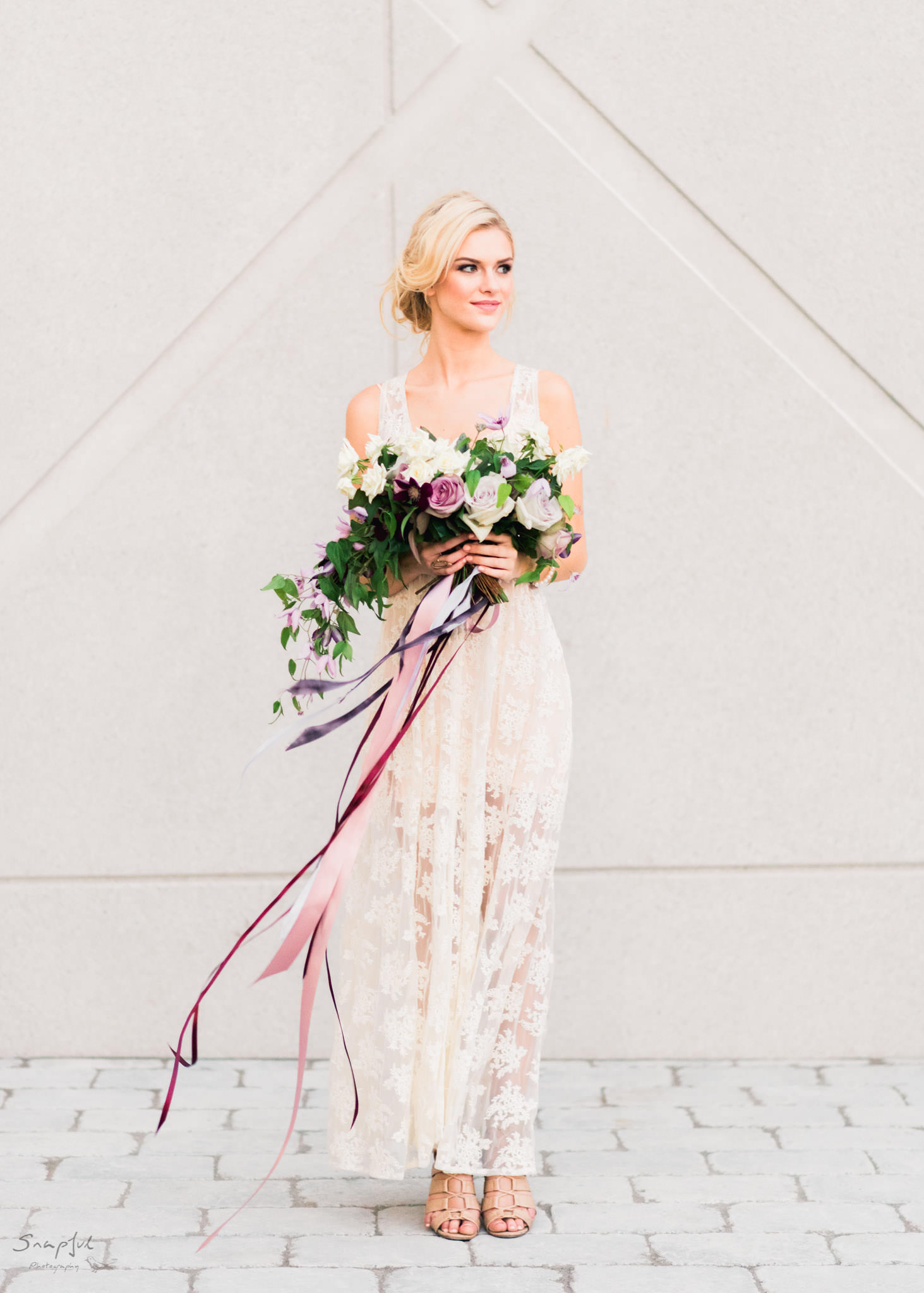 Full body portrait of bride in Toronto