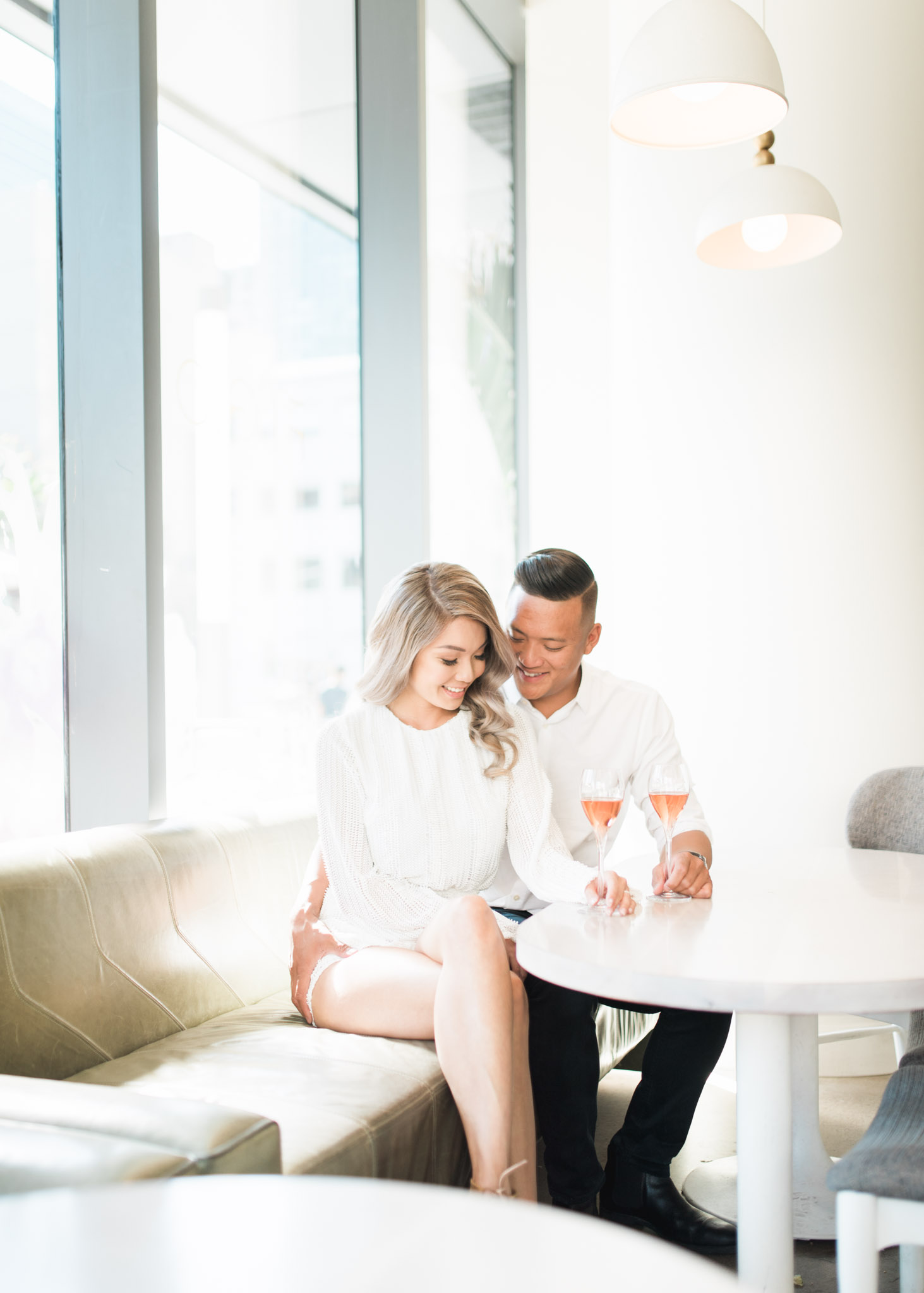 Engagement shoot at Figo in Toronto