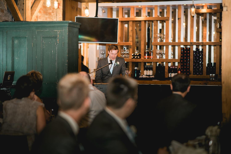 Wedding speech at Archeo in Toronto