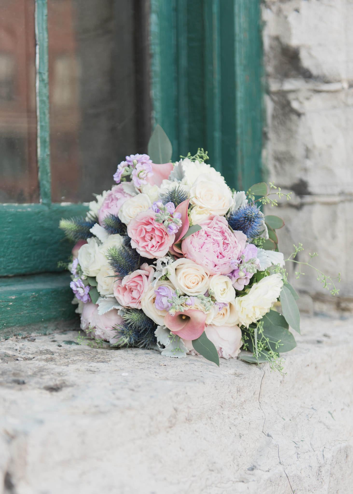 Bouquet in distillery district Toronto
