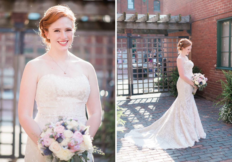 Bride portrait at Archeo in Distillery District in Toronto