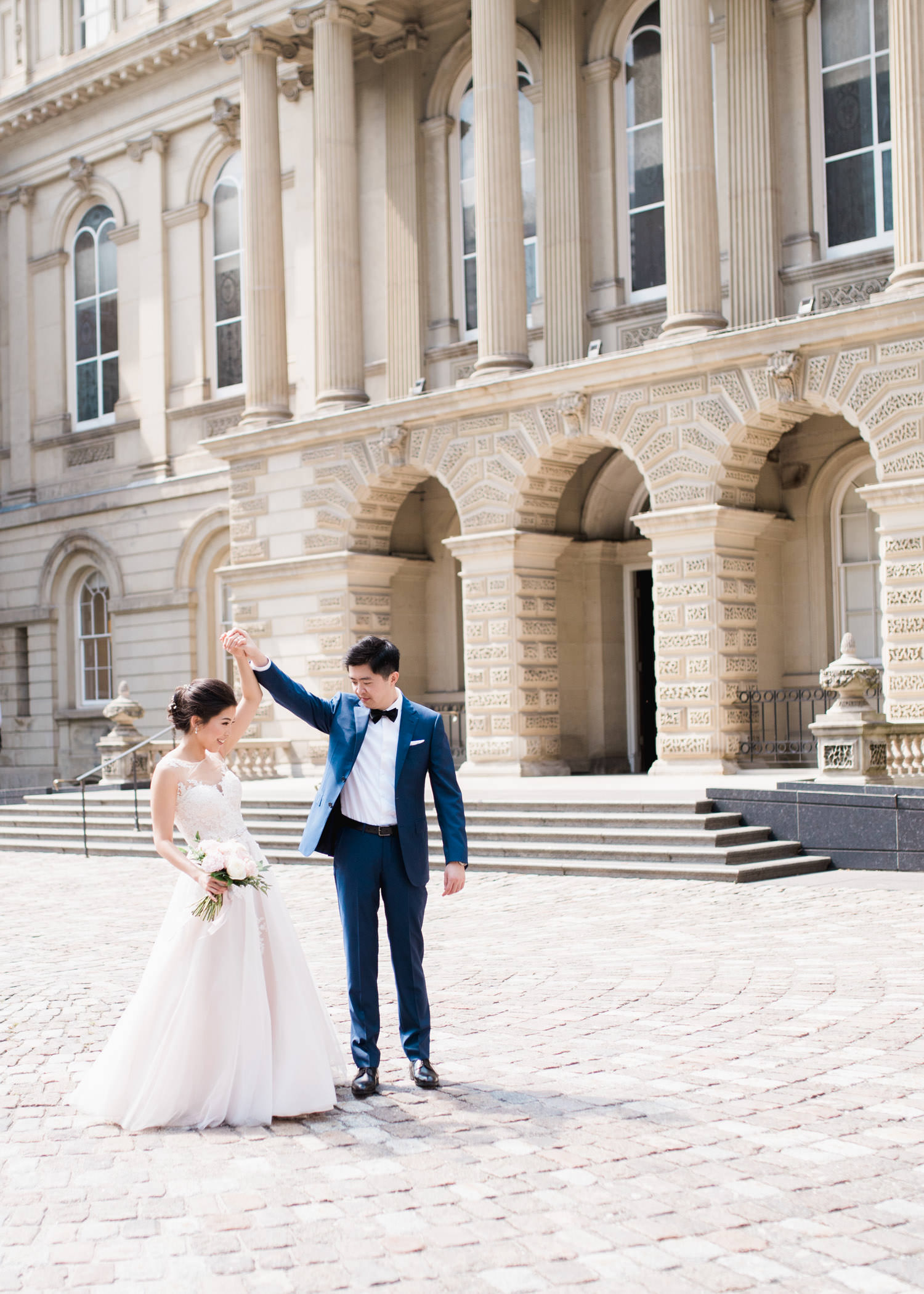 Bride and groom dance at Osgoode hall in Toronto
