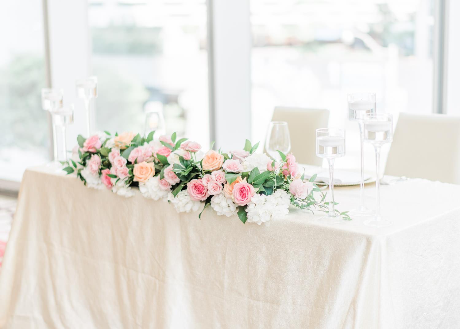 Elegant wedding reception at the Shangri-La Hotel in Toronto