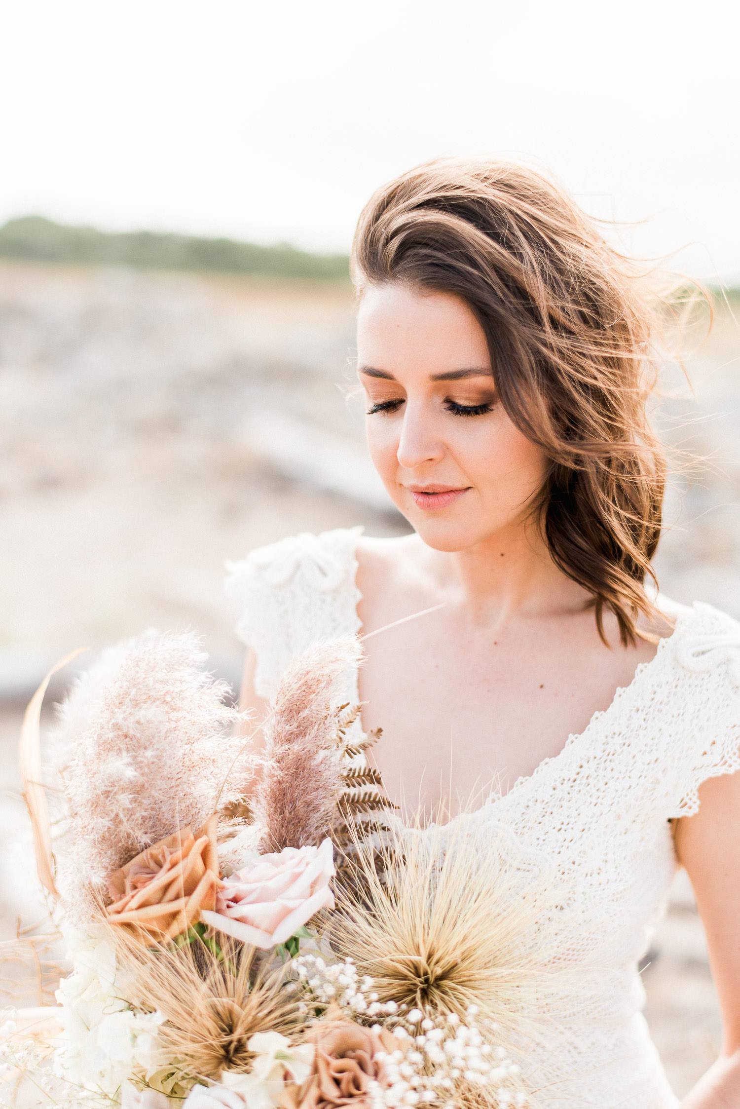 Beautiful bride portrait during elopement in Perth at Perry's Paddock