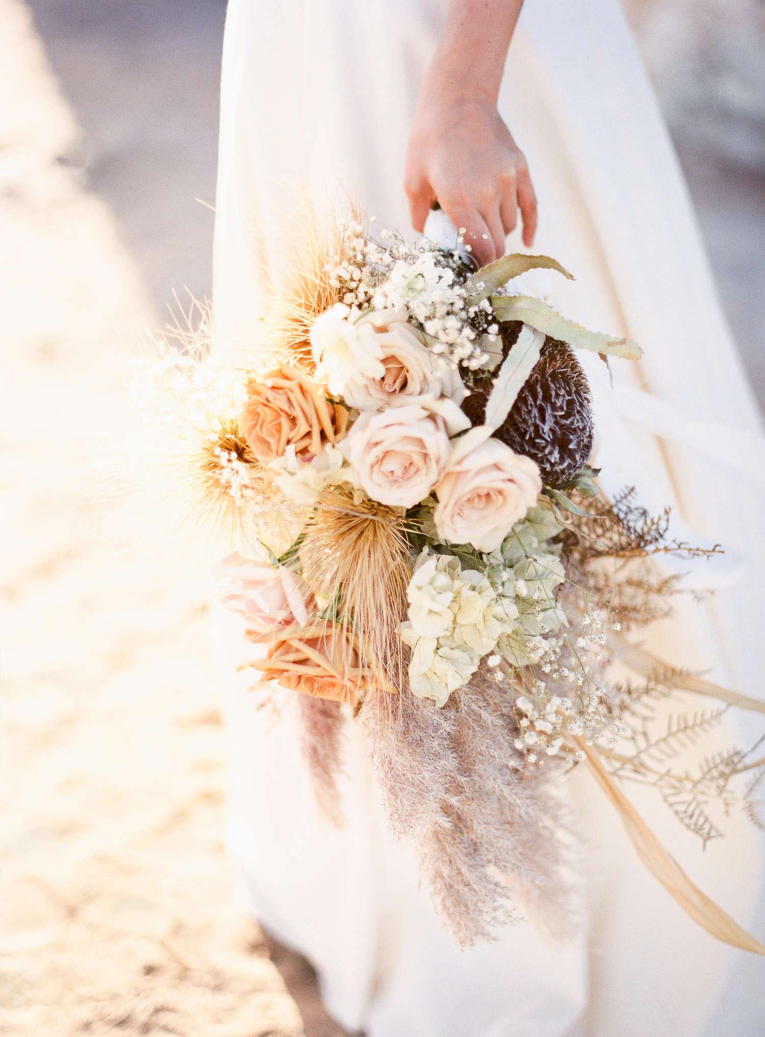 Beautiful bouquet by Rose and Bud for elopement in Perth at Perry's Paddock