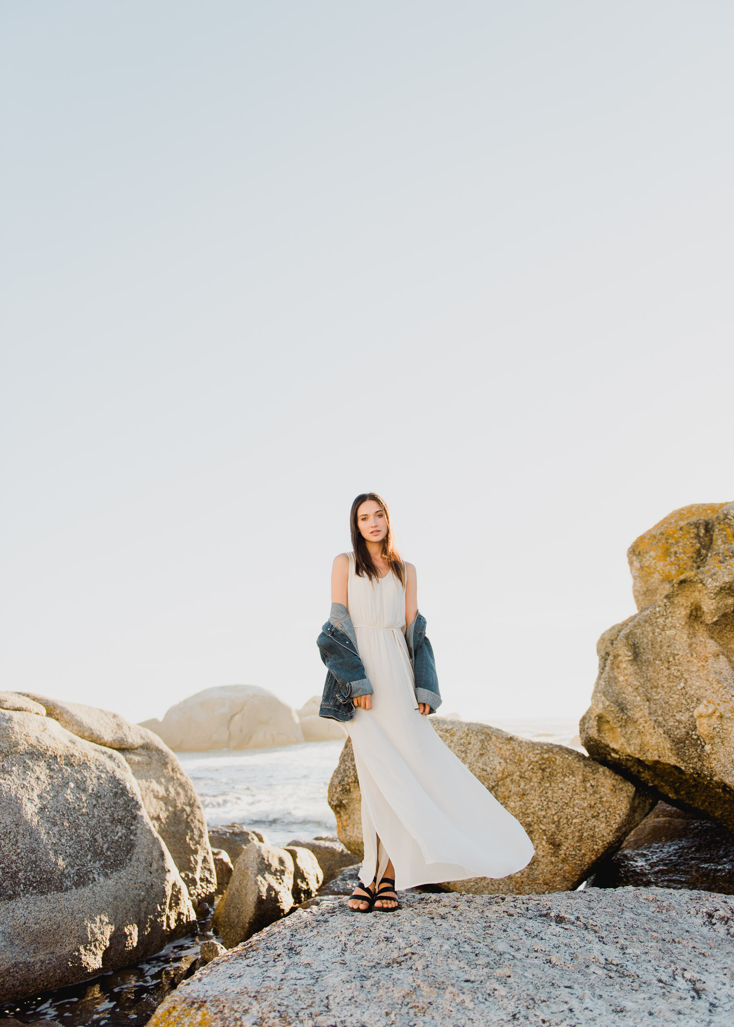 Beautiful model Julie's portrait taken at Beta Beach in Cape Town