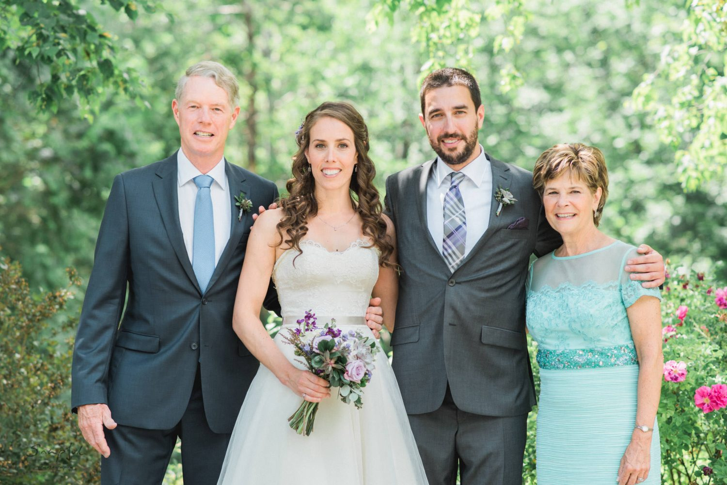 Family portrait at Alton Mill Wedding Snapful Photography