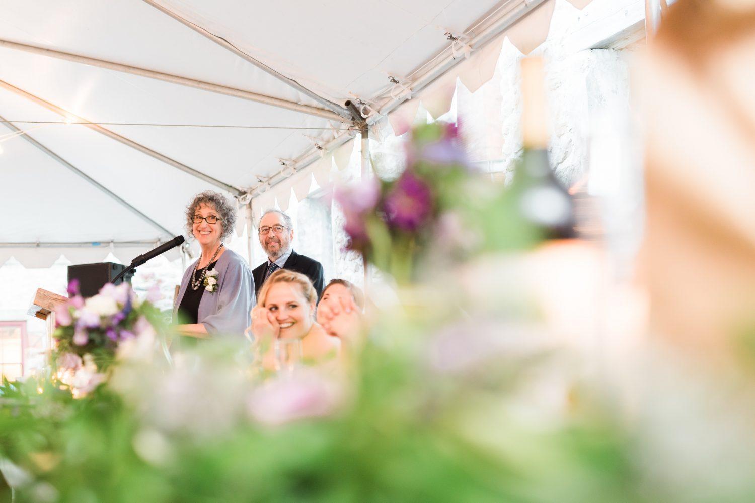 Mother of groom gives speech at Alton Mill
