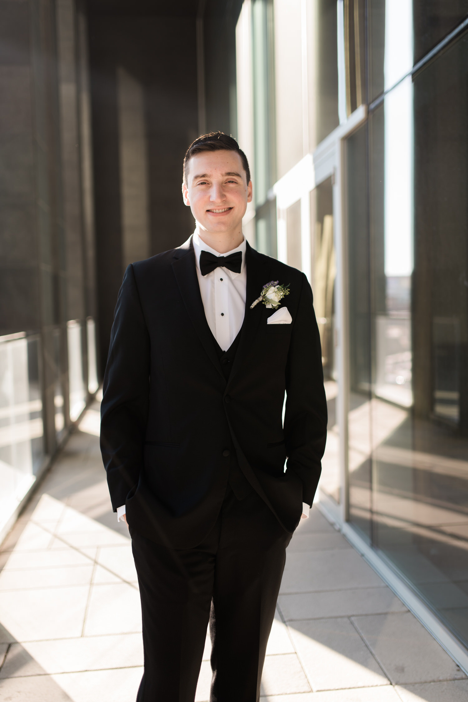 Portrait of groom in Toronto elopement