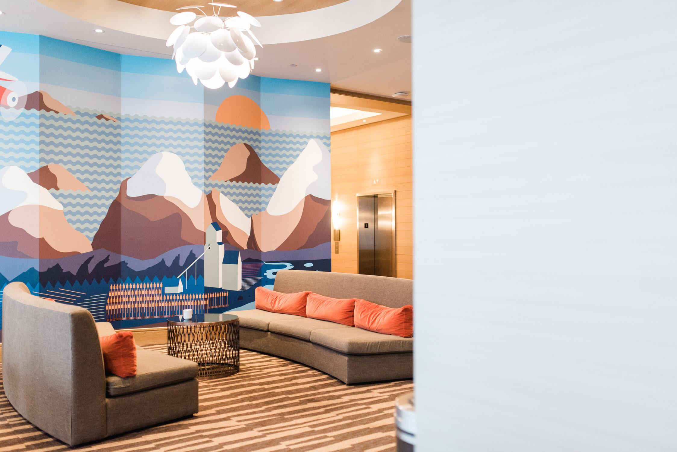 Delta Hotel's lobby in Toronto