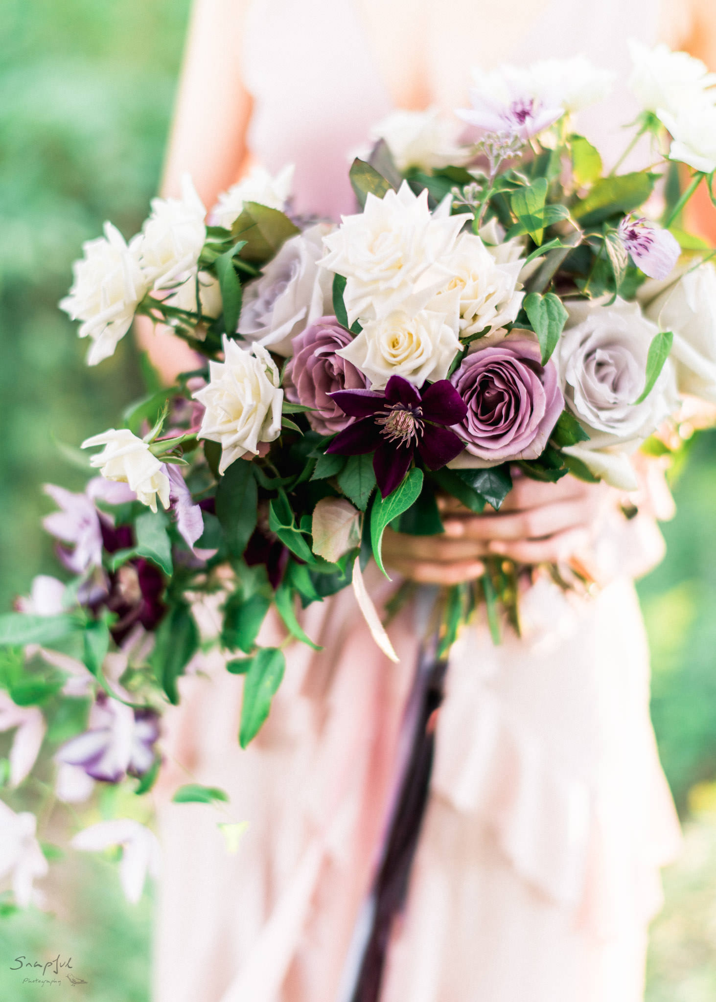 Close up of bride's bouquet in Toronto