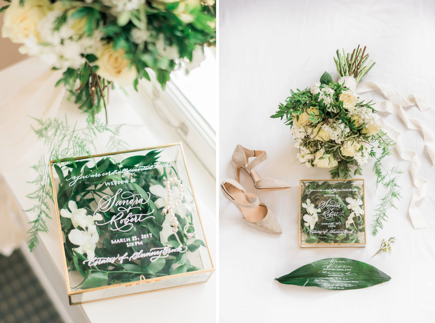 Wedding details at styled wedding shoot at the Estates of Sunnybrook