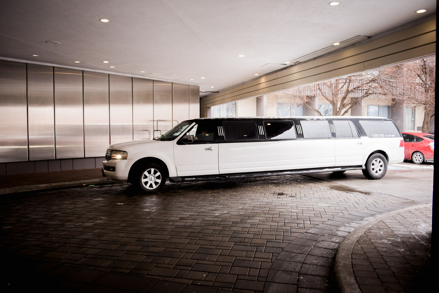 Limo parked outside Don Valley Hotel