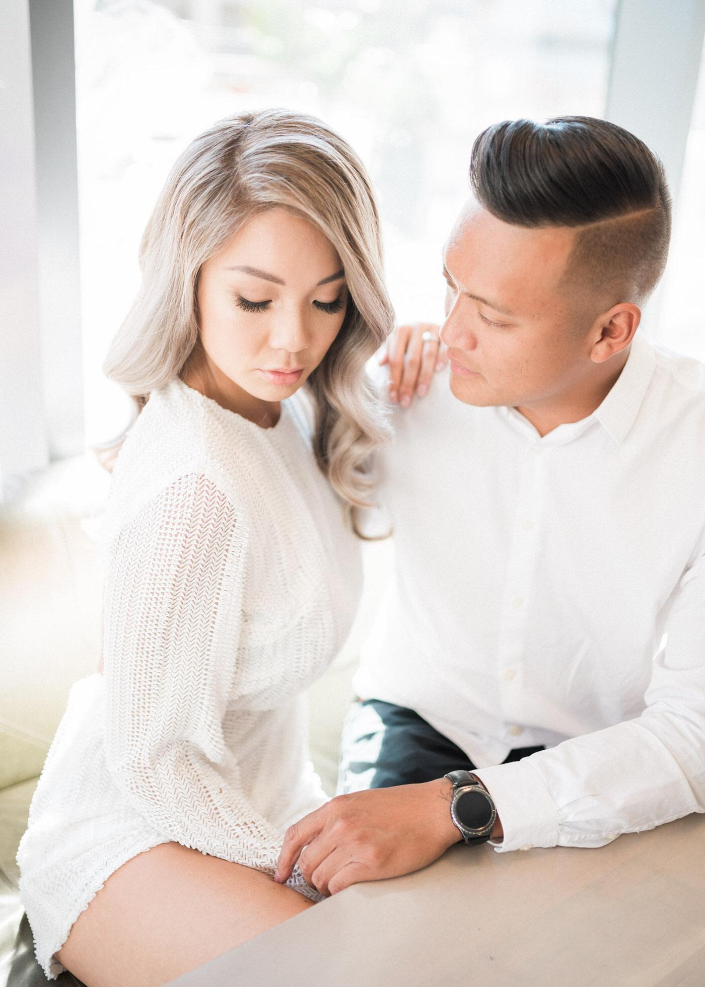 Engagement shoot at Figo in Toronto