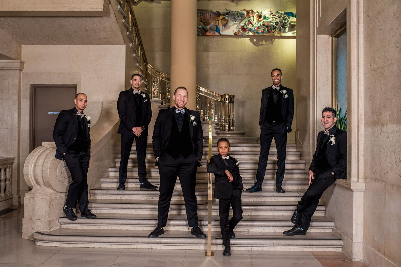 Groomsmen photo at One King West Hotel wedding
