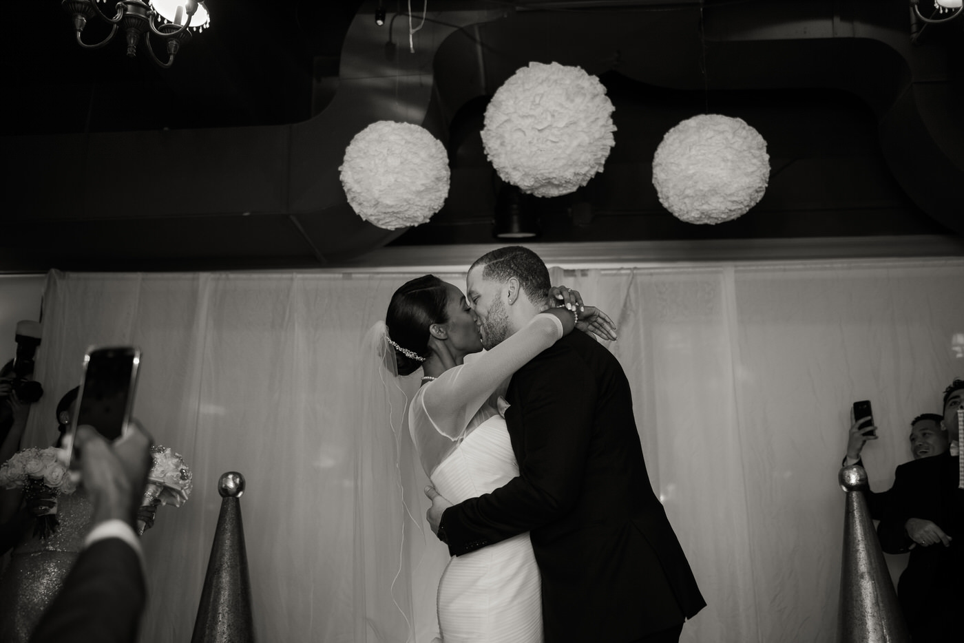 First kiss New Year's Eve wedding in Toronto