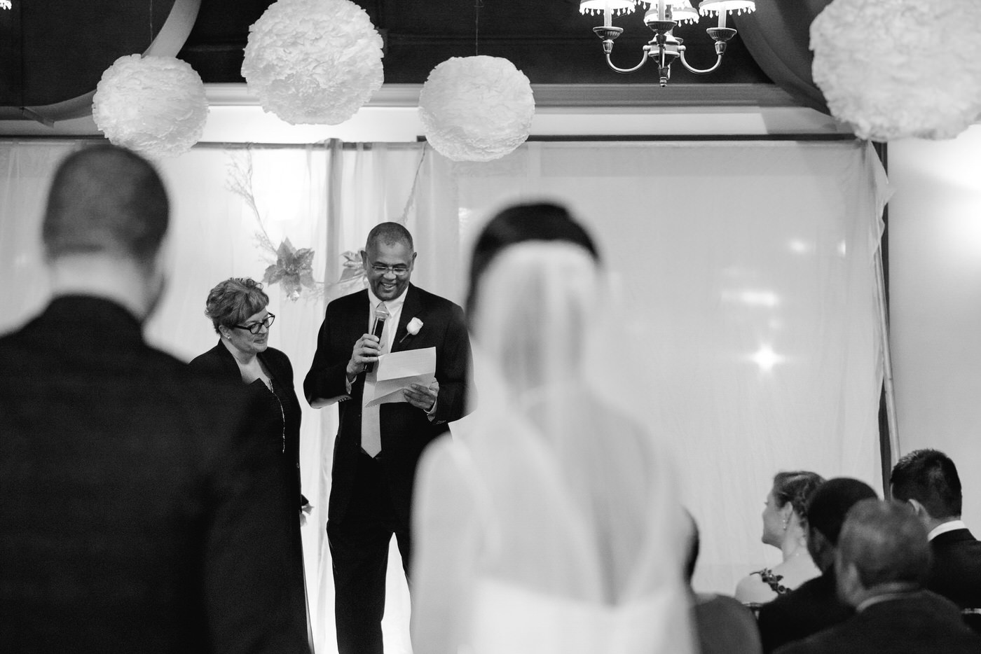 Father of the groom speech at Toronto New Year's eve wedding