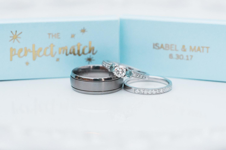Macro shot of rings