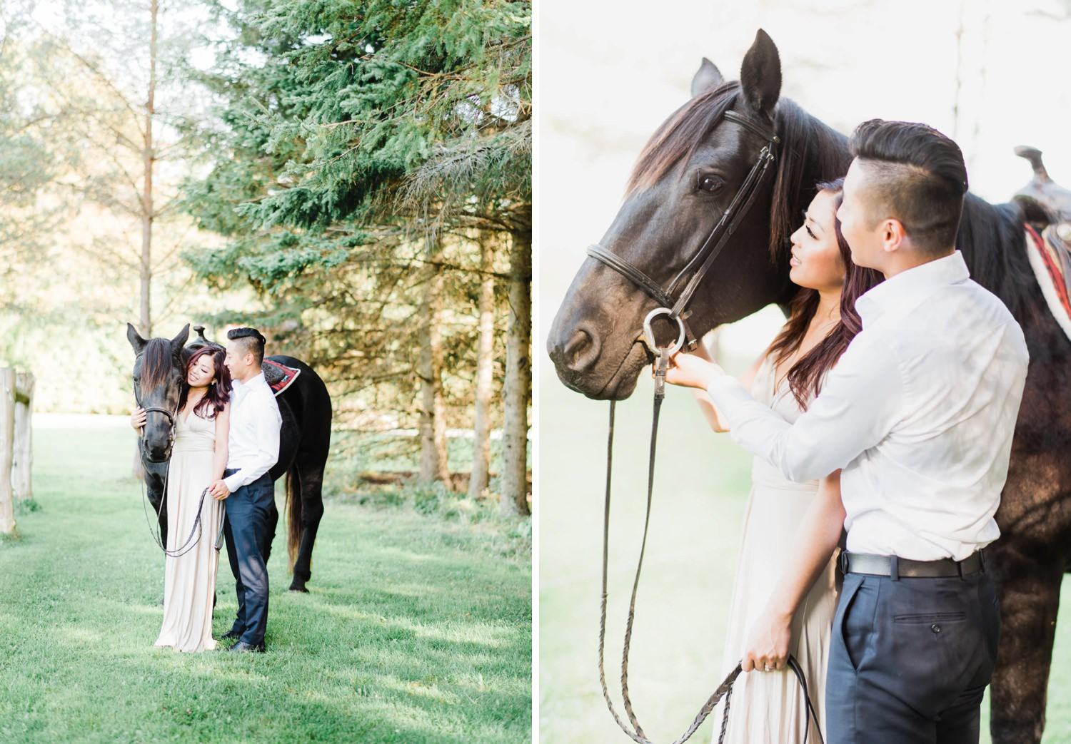 engagement session with horses
