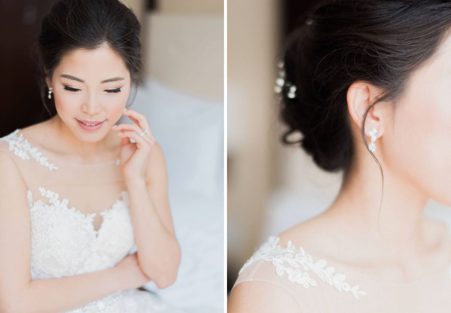 Bridal portrait at Shangri-La Hotel in Toronto