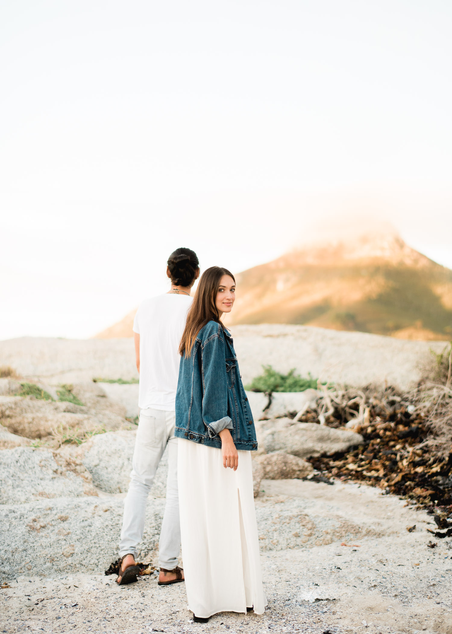 Romantic sunset beach session in Cape Town