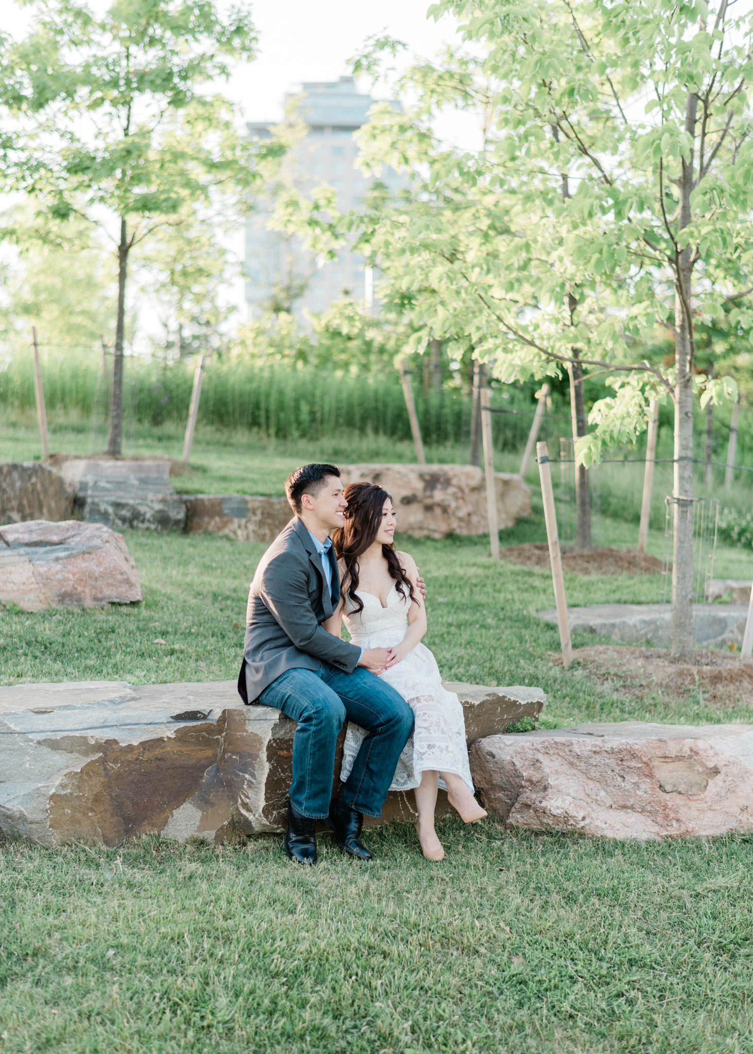 Engagement shoot at Trillium Park in Ontario Place
