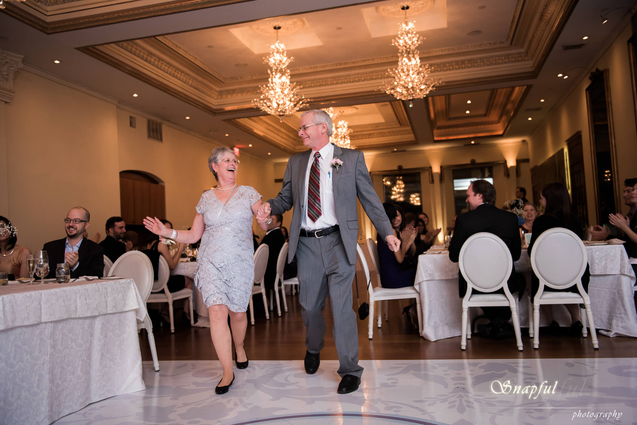 Father and mother of the bride's entrance into Rosewater Toronto