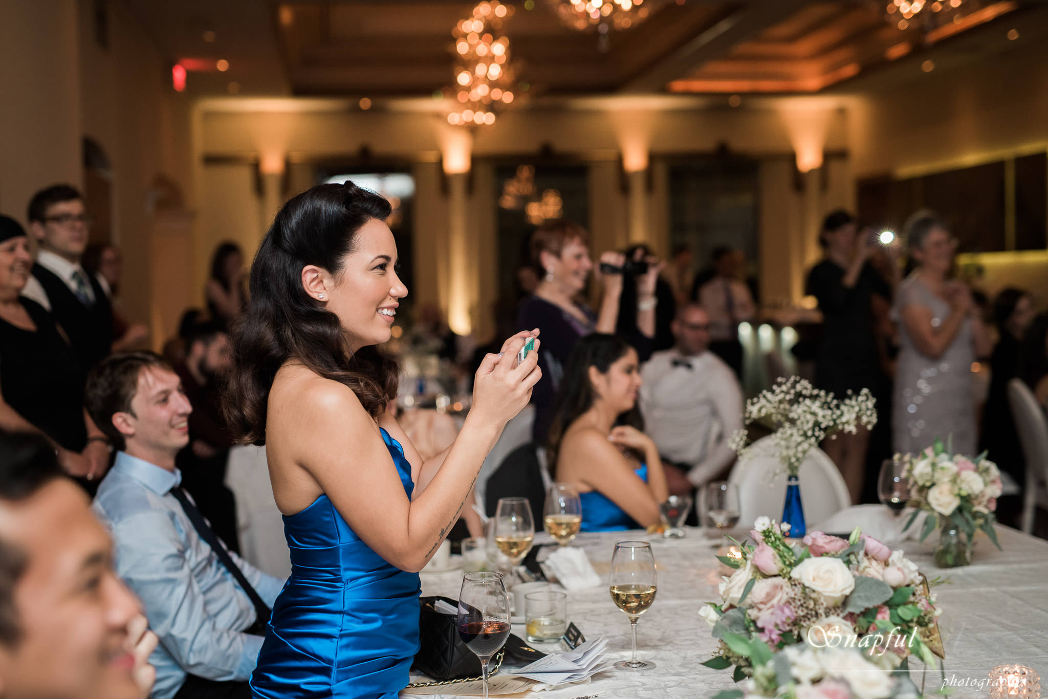 bridesmaid applauding speech